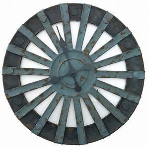 Wanduhr Vintage Metall : madam stoltz xxl wanduhr industrie design metall ~ A.2002-acura-tl-radio.info Haus und Dekorationen