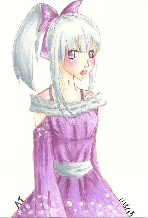 copic sketch e000 anime in purple dress by copickittens1000 on deviantart