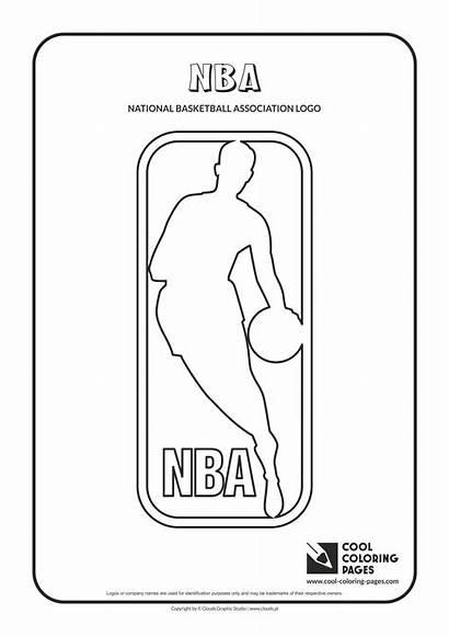 Nba Coloring Pages Basketball Cool Teams Logos