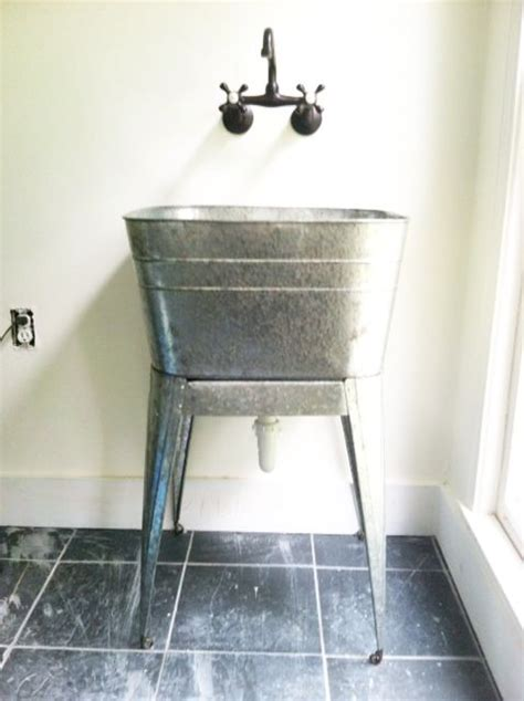 galvanized wash tub sink 17 best images about galvanized tub sinks on pinterest