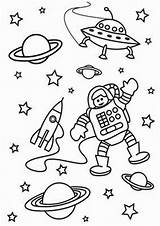 Space Coloring Pages Tulamama Easy Print sketch template