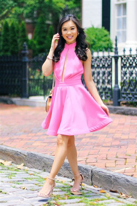 ultra girly skater dress   wedding color chic