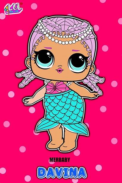 Lol Doll Cartoon Davina Dolls Famous Merbaby