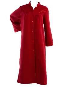 robe de chambre satin polar fleece button up dressing gown satin style