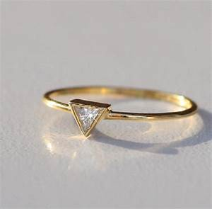 triangle diamond wedding ring triangle gold by adoreandjewelry With triangle wedding ring