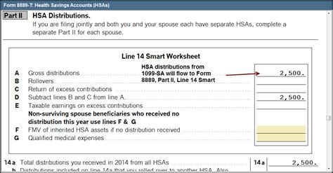 entering hsa health savings account information