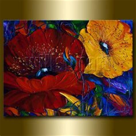 peinture bouquet de fleurs moderne 1000 images about peinture et fleurs on toile poppies and