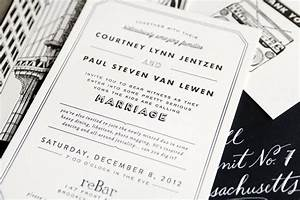 courtney paul39s brooklyn wedding invitations With wedding invitations zurich switzerland