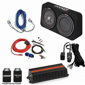 Jl Audio Hx300  1 300 Watt Amp  Kicker 10 U0026quot  Comprt Loaded