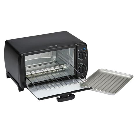 Toastmaster Toaster Oven by Toastmaster 4 Slice Black Toaster Oven 1693 The Home Depot