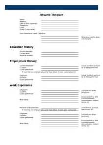 blank resume template free free blank resume template pdf