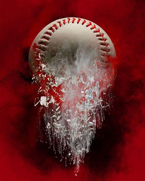 layered shattered baseball  background baseball