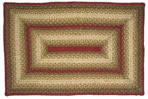 Homespice Decor Jute Rugs by Homespice Decor Jute Braided Area Rug Rust Green Ebay