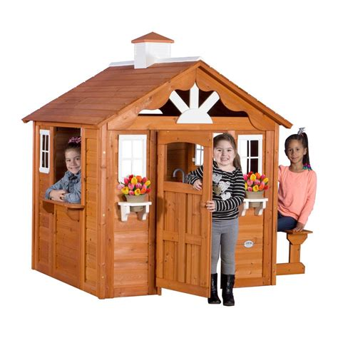 Backyard Cottage Playhouse by Backyard Discovery Summer Cottage All Cedar Playhouse