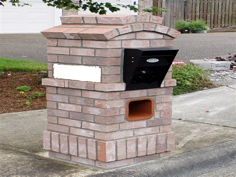 brick l post designs alpine mist brick mailboxes design residential mailboxes