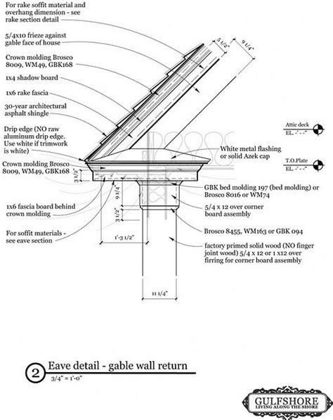 eave detail  gable wall return  Detailing Pinterest
