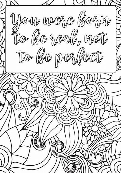 Coloring Positive Pages Mindset Printable Growth Quotes