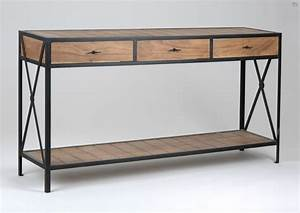 Console Style Industriel : console de drapier de charme meuble amadeus ~ Teatrodelosmanantiales.com Idées de Décoration