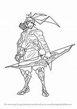 Overwatch Coloring Hanzo Draw Drawing Step Learn Genji Tutorials Drawingtutorials101 Kleurplaten Mcree Colouring Drawings Sheets Sketch Junkrat Tutorial Va Template sketch template