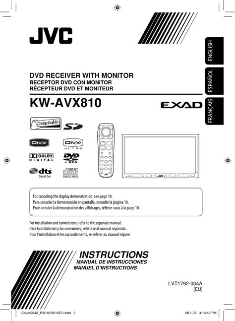 jvc kw avxeu avx eu instructions user manual