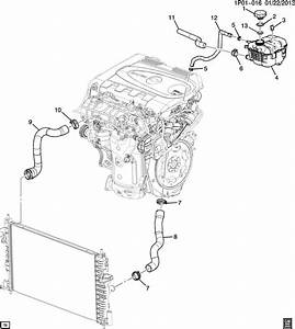 2014 Chevrolet Cruze Cap  Engine Coolant Recovery