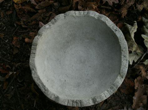 vintage cement 12 quot x 7 quot classic bowl bird bath garden