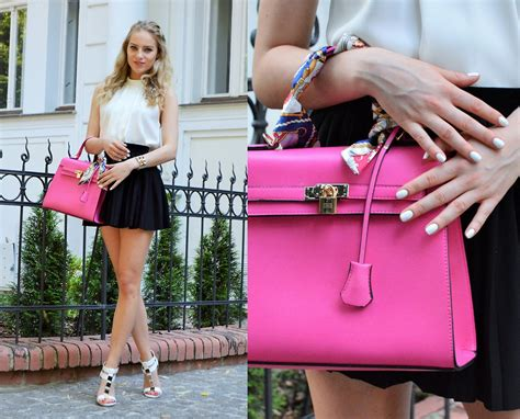 adela k oasap pink handbag zara whte sleeveless top h m black skirt aldo white heeled