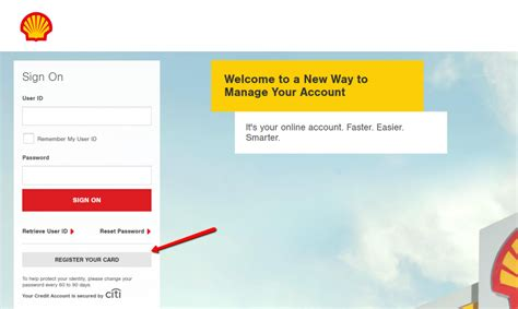 Now you can redeem your rewards and pay for fuel with just a single swipe of your linked credit card. www.shellcreditcard.accountonline.com Shell Credit Card Sign On   Make a Payment