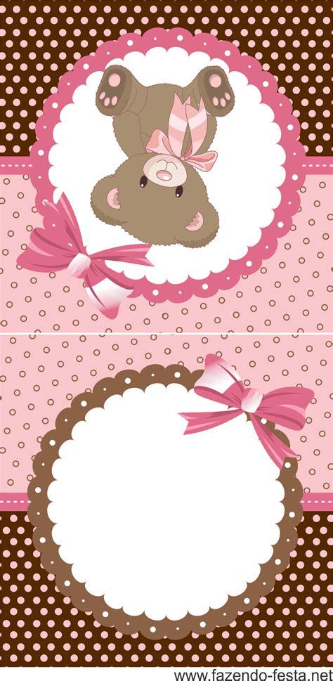kit festa ursinha marrom e rosa gr 225 tis pronto imprimir festa ideias tag etiquetas