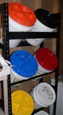 gal bucket storage rack space savers food storage