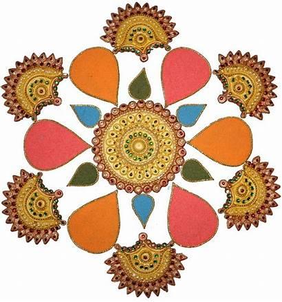 Rangoli Diwali Clipart Designs Drawings Kolam Cliparts