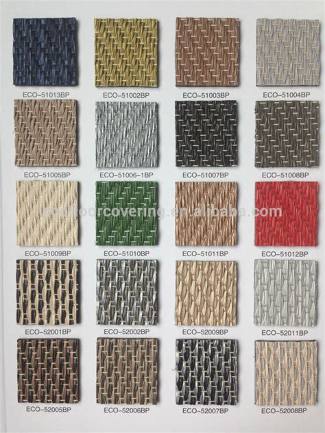 Woven Pvc Flooring Roll And Woven Vinyl Flooring Tile For