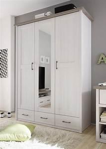 Kleiderschrank Pinie Weiß : kleiderschrank luca 3 trg pinie wei tr ffel nachbildung ~ Orissabook.com Haus und Dekorationen