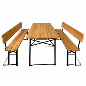 Bierzeltgarnitur Breiter Tisch : casaria bierzeltgarnitur mit r ckenlehne breiter biertisch 2 bierb nke 170x70cm ~ A.2002-acura-tl-radio.info Haus und Dekorationen