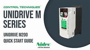 Unidrive M200 Quick Start Guide