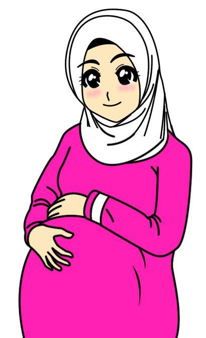 Sekolah Hamil Dan Melahirkan Kartun Ibu Hamil Muslimah Soloraya Net