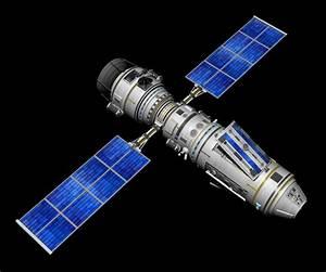 3d model satellite solar panels