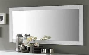Miroir Salle A Manger : miroir de salle manger rectangulaire 180 cm blanc laqu ~ Dailycaller-alerts.com Idées de Décoration