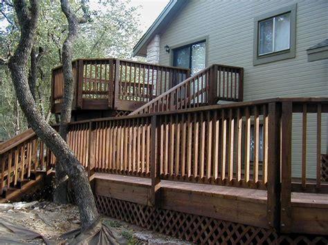 bi level deck plans home plans  blueprints