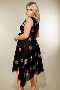 Bon Price Mode : robe noire portefeuille imprim floral grande taille 44 64 ~ Eleganceandgraceweddings.com Haus und Dekorationen