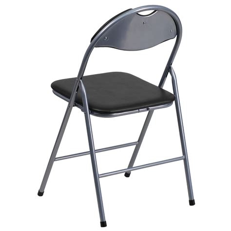 hercules series black vinyl metal folding chair with carrying handle foldingchairs4less