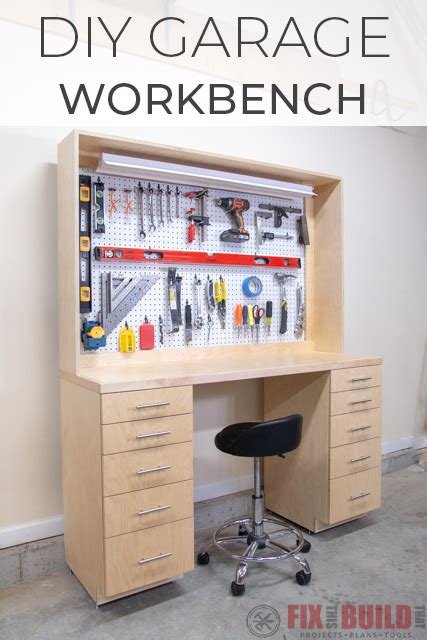 diy garage workbench  storage fixthisbuildthat