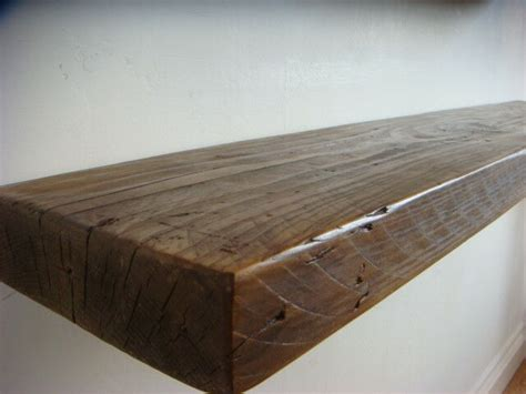 Wooden Floating Shelves by Rustic Floating Wooden Shelf Solid Reclaimed Chunky Wood