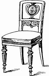 Clipart Chair Coloring Modern Pages Clip Wood Chairs Etc Armchair Line Leather Print Library Table Cliparts Maker Cabinet Medium Usf sketch template