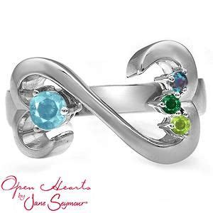 mothers ring jane seymours open hearts design   gorgeous moms birthstone