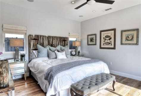 chambre style bord de mer tête de lit bois flotté pour une chambre d 39 ambiance naturelle