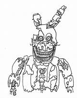 Fnaf Coloring Pages Bonnie Sheets Printable Withered Five Nights Toy Drawing Nightmare Scary Foxy Freddy Print Chica Getcolorings Ultimate Plushtrap sketch template