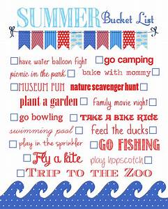 Summer Bucket List {free printable} - How to Nest for Less™
