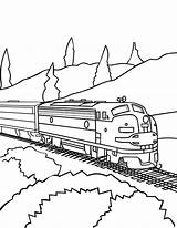 Train Coloring Trains Railroad Caboose Freight Drawing Csx Track Printable Passenger Awesome Bnsf Template Sheets Colorluna Getdrawings Luna Locomotive Templates sketch template