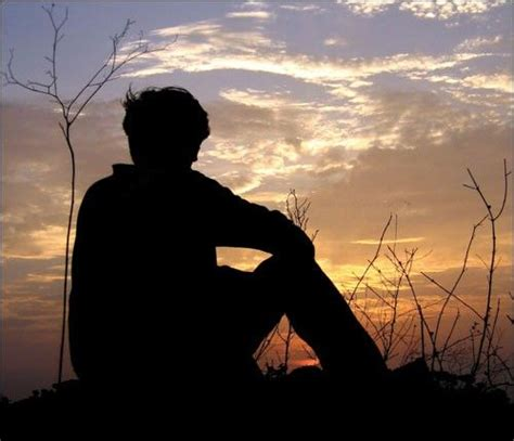 Image For Sad Boy Sit Alone Facebook Profile Picture